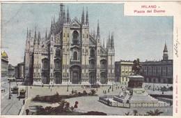 ITALIE.  MILANO  CPA COLORISEE ..2 CARTES . PIAZZA DEL DUOMO . IL DUOMO. ANNEE 1906 - Milano