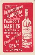 1 SPEELKAART LIKEUR GENT MARLIER FRANCOIS ROOD - Playing Cards