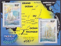 Bloc Feuillet Neuf ** N° 22(Yvert) Polynésie 1997 - Marine, Pacific 97 - Blocks & Kleinbögen