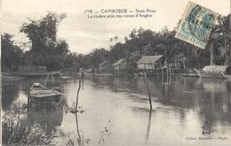 CPA Cambodge Siem-Reap La Rivière Près Des Ruines D'Angkor - Cambodge