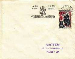 REUNION  Peuplement De L'Ile Bourbon  SAINT DENIS  24 Novembre 1965 Flamme - Réunion (1852-1975)