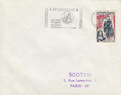 REUNION  Peuplement De L'Ile Bourbon  SAINT JOSEPH  6 Octobre 1965 Flamme - Réunion (1852-1975)