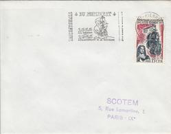 REUNION  Peuplement De L'Ile Bourbon  SAINT PIERRE  5 Octobre 1965 Flamme - Réunion (1852-1975)