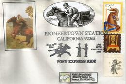 Pony Express National Historic Trail,from St. Joseph, Missouri, To Sacramento, California , Letter - Horses