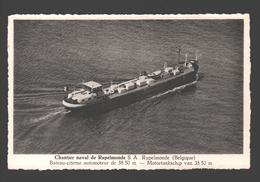 Rupelmonde - Chantier Naval De Rupelmonde S.A. - Motortankschip Van 38.50 M. / Bateau-citerne - Kruibeke