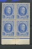 1 Fr. Houyoux 257 En Bloc De 4  Cote 30,- Euros   Sans Charnière   Postfris - Unused Stamps
