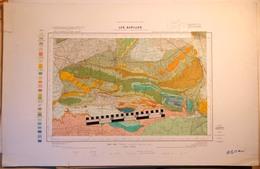CARTE GEOLOGIQUE De La France, 1/50000e, LES ALPILLES, Eyguières, Châteaurenard - épreuve D'impression - Cartes Topographiques