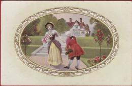 Romantiek Romance Couple Liefde Amour Love Carte Fantaisie Fantasiekaart Arnonoble Serie 5013 - Couples