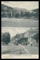 PESO DA RÉGUA -CALDAS DO MOLEDO- ESTAÇÃO DOS CAMINHOS DE FERRO-Comboio Directo ( Ed. J. M. Borges Nº 23)   Carte Postale - Vila Real