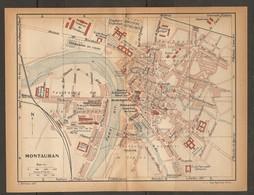 CARTE PLAN 1923 MONTAUBAN - CASERNES De CAVALERIE D'INFANTERIE VÉLODROME ARCHIVES - Topographical Maps