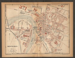 CARTE PLAN 1923 MONTAUBAN - CASERNES De CAVALERIE D'INFANTERIE VÉLODROME ARCHIVES - Topographische Kaarten