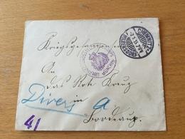 SCHW665 Deutsches Reich 1915 Feldpostbrief Von Chemnitz Mit Zensur München - Deutschland