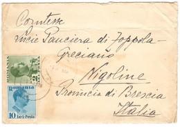 IZ37   Romania 1938 Cover To Nigoline Italy - Briefe U. Dokumente