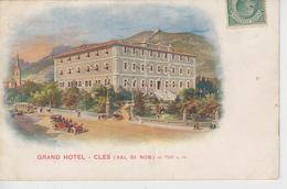 CPA Cles (Val Di Non) - Grand Hotel (avec Animation) - Altre Città