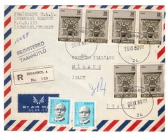 IZ38   TURKEY - COVER TO ITALY - BY AIR MAIL - 1969 - MIXED FRANKING - 1921-... Republiek