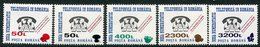 ROMANIA 1999 Surcharges On Telephone System  MNH / **.  Michel 5382-86 - 1948-.... Republics
