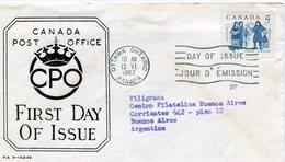 CANADA 1962 FDC OTTAWA JEAN TALON CONDE DE ORSAINVILLE - NTVG. - Sobre Primer Día (FDC)