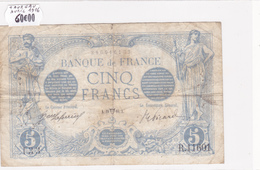 Billet De 5 Francs Bleu Du 29/04/1916 Taureau - R.11601 Alph 133 @ N° Fayette : 2.38 - 1871-1952 Circulated During XXth