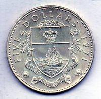 BAHAMAS, 5 Dollars, Silver, Year 1971, KM #24 - Bahamas