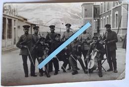 1914 1918 Barcelonnette Orchestre D'officiers Camp De Prisonniers De Guerre Dépôt Des Officiers Ww1 14-18 Carte Photo - Guerre, Militaire