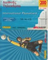 GREECE - Panini/Football, Telecom Italia Prepaid Card 3000 GRD, Tirage 10000, Exp.date 29/02/00, Used - Sport