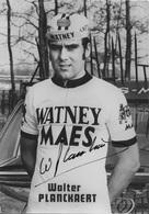 CARTE CYCLISME WIALTER PLANCKAERT SIGNEE TEAM WATNEYS 1973 - Cyclisme