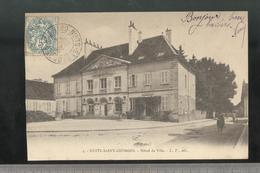 CPA Nuits Saint Georges - Hotel De Ville - Circulée - Nuits Saint Georges