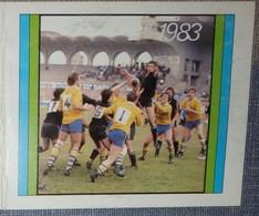 Petit Calendrier De Poche 1983 Bagnères MFD Rugby  - épicerie Vitré - Grapp'Royale Vin Léger - Grand Format : 1981-90