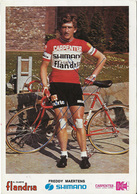 CARTE CYCLISME FREDDY MAERTENS SIGNEE TEAM CARPENTER 1973 - Radsport