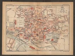 CARTE PLAN 1925 PAU - PALAIS D'HIVER PLACE De VERDUN MUSÉE - Mapas Topográficas