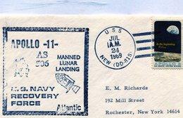 ESTADOS UNICOS 1969 SPC APOLLO 5 IN THE BEGINNG GOD ... APOLLO 11 MANNED LUNAR LANDING - NTVG. - Altri