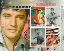 2008 Gambia Elvis Guitar Music  Miniature Sheet Of 4 MNH - Gambia (1965-...)