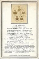 5 Prêtres Fusilliés  En 1871 Lors De La Commune De Paris ( Olivaint-Ducoudray-Clerc-Caubert-de Bengy ) - Décès