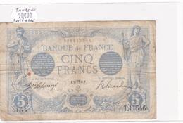 Billet De 5 Francs Bleu Du 26/04/1916 Taureau - T.11546 Alph 064 @ N° Fayette : 2.38 - 1871-1952 Circulated During XXth