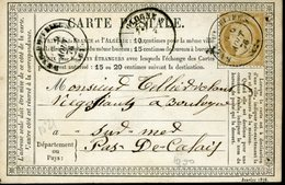 Carte Storch-Sinais N°21 Tarif 15c PAS DE CALAIS RANG DU FLIERS 9 Août 76 Type 17 Trous D'archivage - Cartoline Precursori