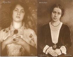 Maria Fein : Toneelspeelster ---- 2 Cards - Artistes