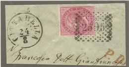 1871  Small Part Of Letter Wit Postmark Citadella 2595 - Storia Postale