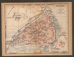 CARTE PLAN 1923 POITIERS - INFANTERIE ARTILLERIE PARC De BLOSSAC CASERNE Des DOMINICAINS - Topographical Maps