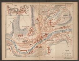 CARTE PLAN 1925 TULLE - CASERNE MARBOT POUDRIERE CHAMP De MARS CASERNES - Mapas Topográficas