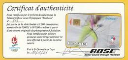 BOSE JEUX OLYMPIQUES BIATHLON TIRAGE 1000 N°809 ET TIRAGE 111000 - Jeux Olympiques