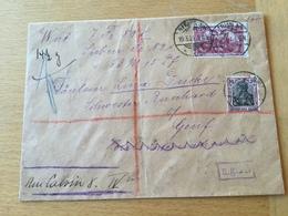 SCHW665 Deutsches Reich 1921 Wertbrief Von Berlin Nach Genf Mit Zensur Und Devisenkontrolle - Allemagne