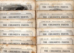The Childrens Friend: No XXV To XXXVI - 12 Issues Of 1863 (Jan To Dec) With Too Many Pictures And Many Interesting Artic - Para Niños