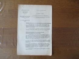 LILLE LE 19 JUIN 1941 LE PREFET DU NORD CIRCULAIRE REGLEMENTATION PROVISOIRE DE LA VENTE DES VÊTEMENTS & ARTICLES TEXTIL - Historische Dokumente