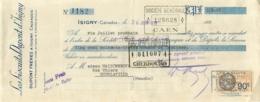LES BISCUITS DUPONT D'ISIGNY CALVADOS MANDAT A ORDRE 1935 - 1900 – 1949