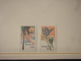 BRASILE - 1976 NATURA 2 VALORI - NUOVI(++) - Brasile