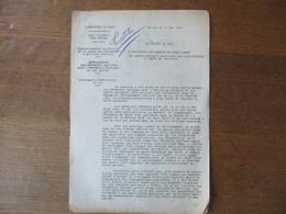 LILLE LE 10 MAI 1941 LE PREFET DU NORD CIRCULAIRE N°19 RATIONNEMENT DES VÊTEMENTS SPECIAUX POUR L'EDUCATION PHYSIQUE ET - Historische Documenten