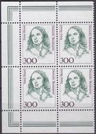 BRD, 1989,  Nr. 1433 ** Frauen Der Deutschen Geschichte,  Viererblock Mit Linkem Rand Aus Kleinbogen - Nuovi