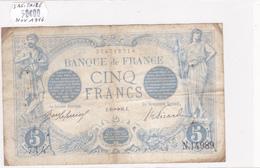 Billet De 5 Francs Bleu Du 18/11/1916 Sagitaire - N.14989 Alph 714 @ N° Fayette : 2.45 - 1871-1952 Circulated During XXth