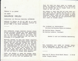 Maurice Deleu (1901-1982) - Andachtsbilder