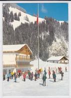 """Bellegarde / Jaun, En Hiver, Ferienheim """" Gastlosen """" Et Chalet """"Hermann"""". Skieurs. Format 10 X 15 - FR Fribourg"""